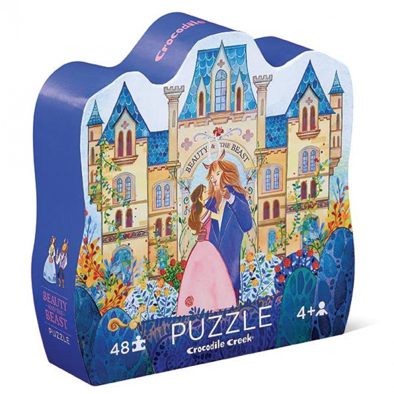 Puzzel Beauty & the Beast 48 stukken, Crocodile Creek