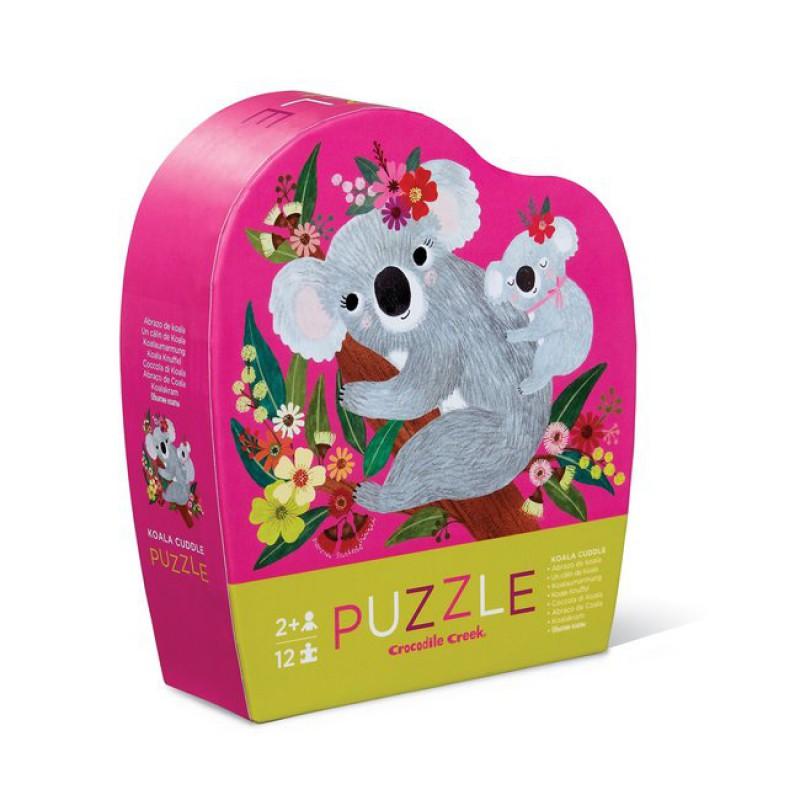 Puzzel Koala Cuddle 12 st, Crocodile Creek