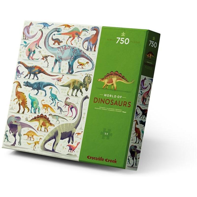 Puzzel World of Dinosaurs 750 st, Crocodile Creek