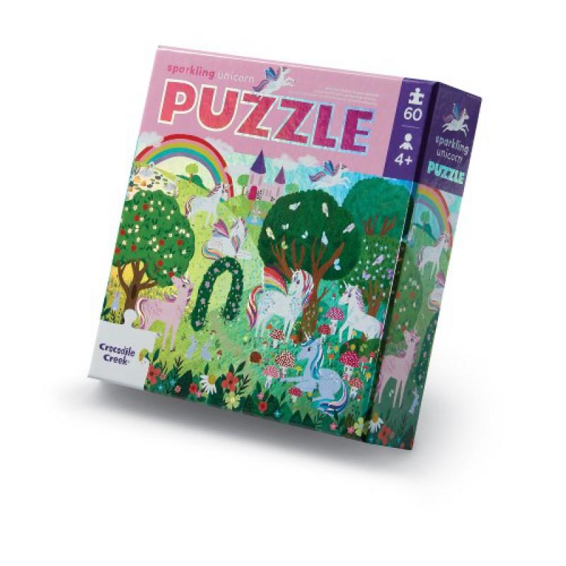 Folie puzzel Sparkling Unicorn 60 st, Crocodile Creek