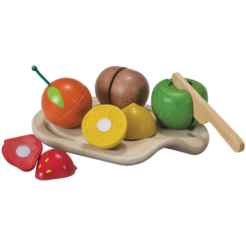 Snijset fruit, Plan Toys