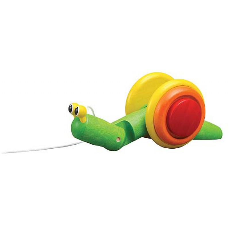 Pull-Along slak, Plan Toys