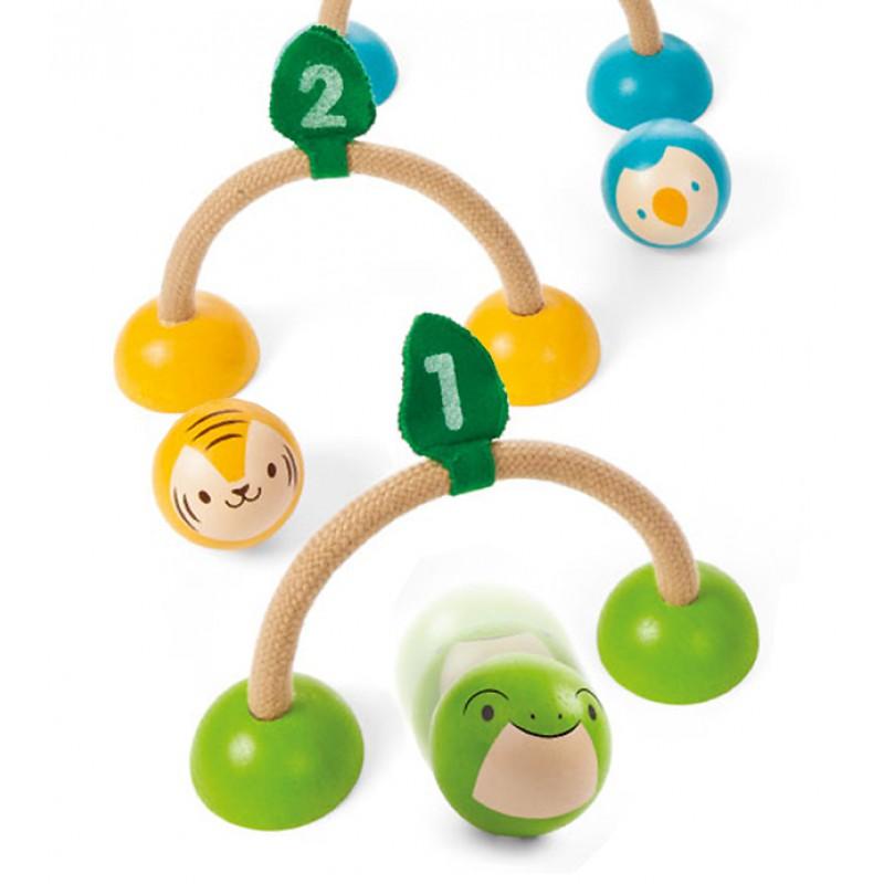Houten croquetspel dieren, Plan Toys