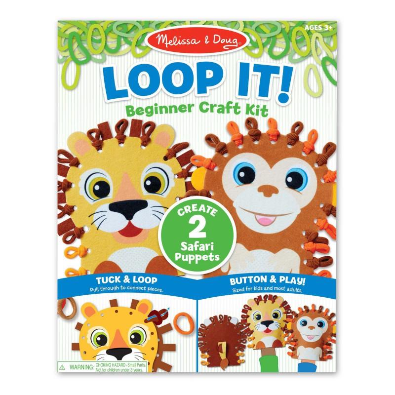 Loop It! DIY handpoppen safari, Melissa & Doug