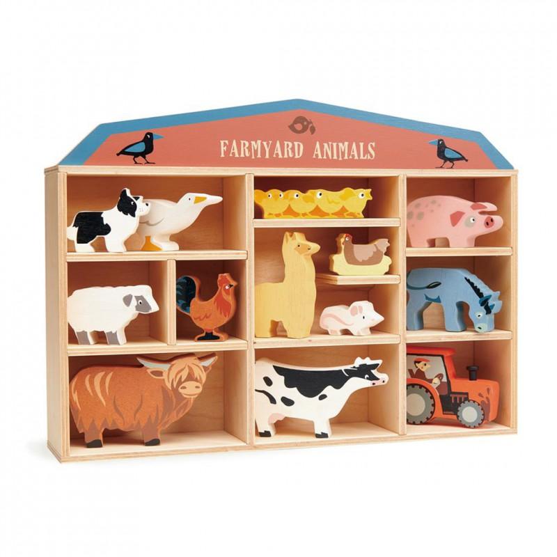 4608483 Boerderijdieren in kastje, Tender Leaf Toys
