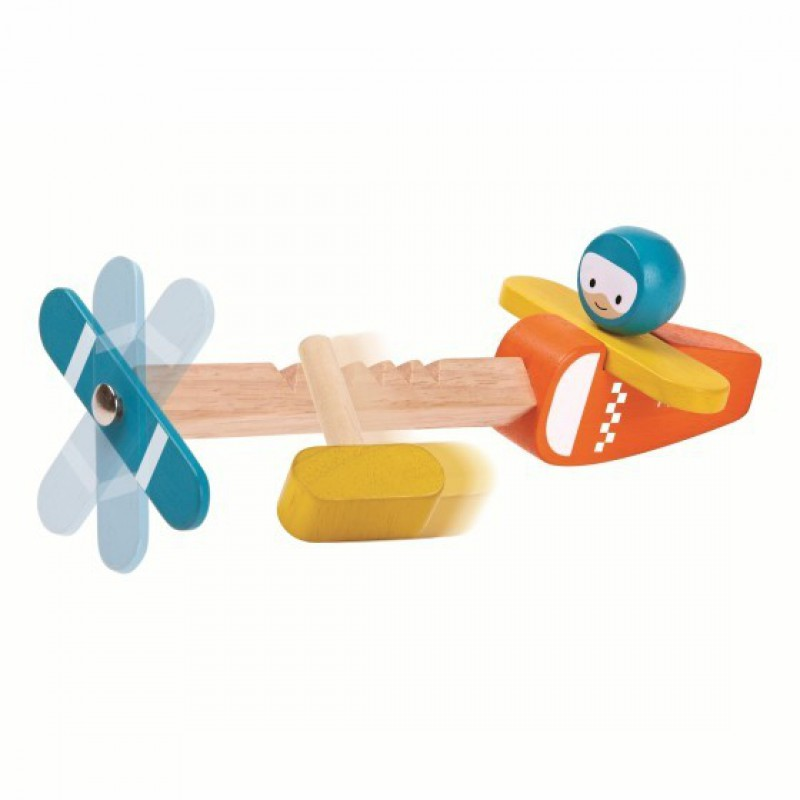 Spin N Fly vliegtuig, Plan Toys