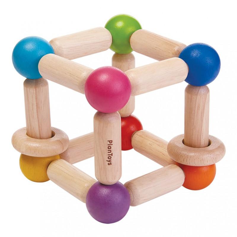 Grijpspeeltje kubus, Plan Toys