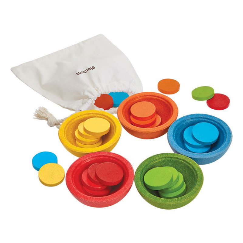 Sorteer- en telbakjes, Plan Toys