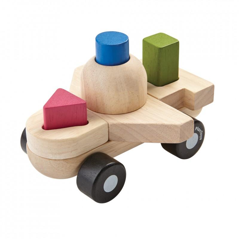 Sorteerpuzzel vliegtuig, Plan Toys