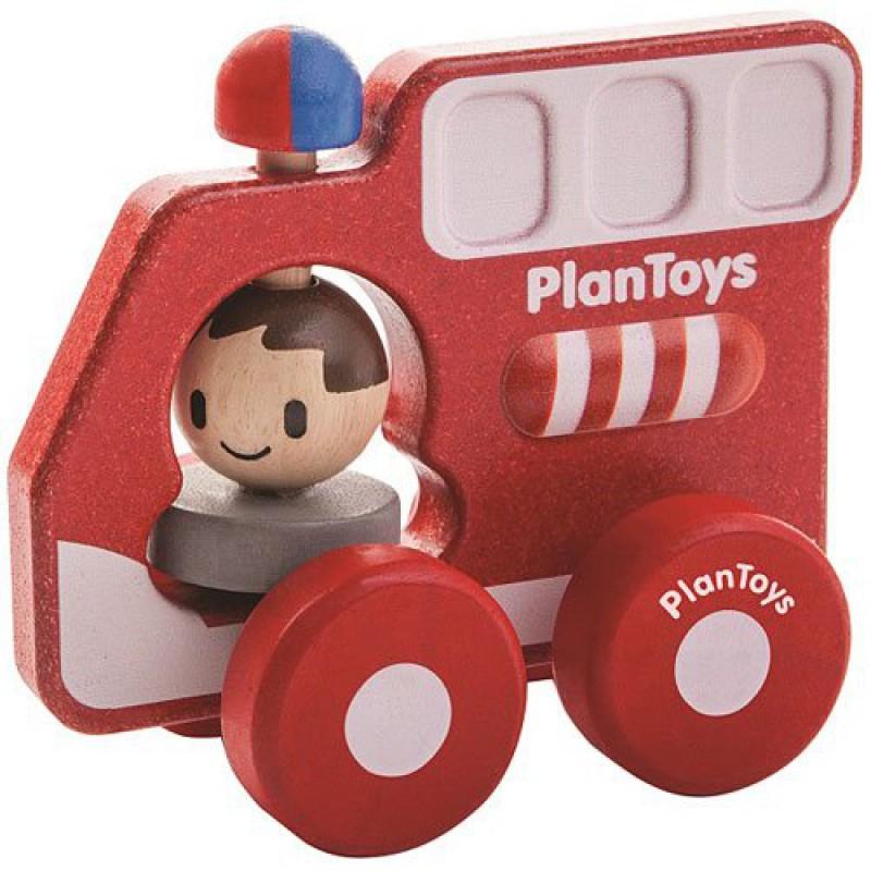 Brandweerauto, Plan Toys