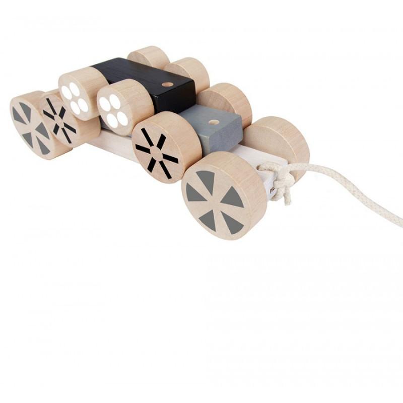 Stapelwielen auto, Plan Toys