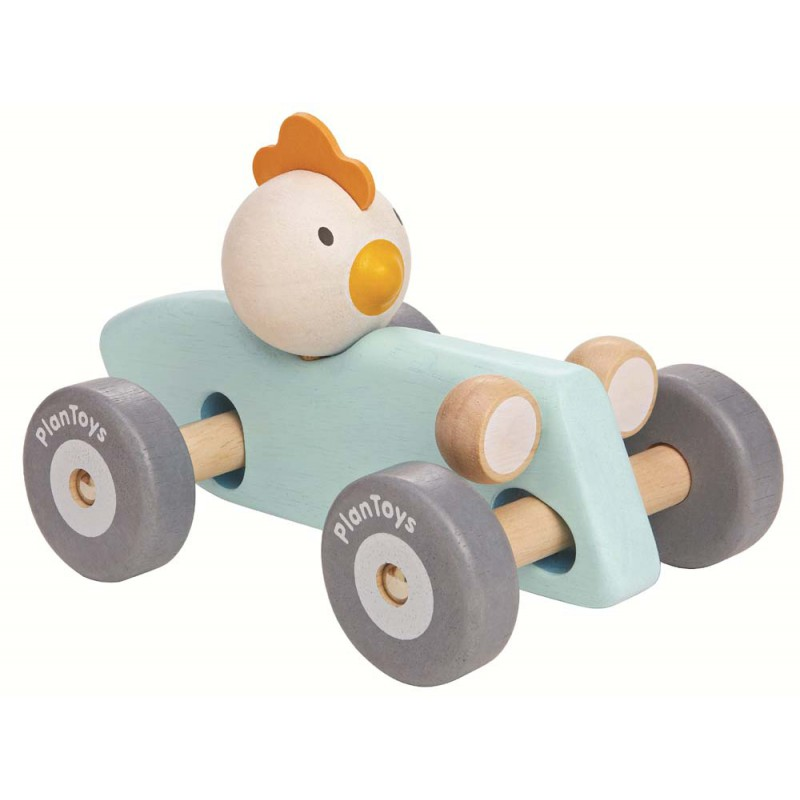 Wiebel raceauto kip, Plan Toys