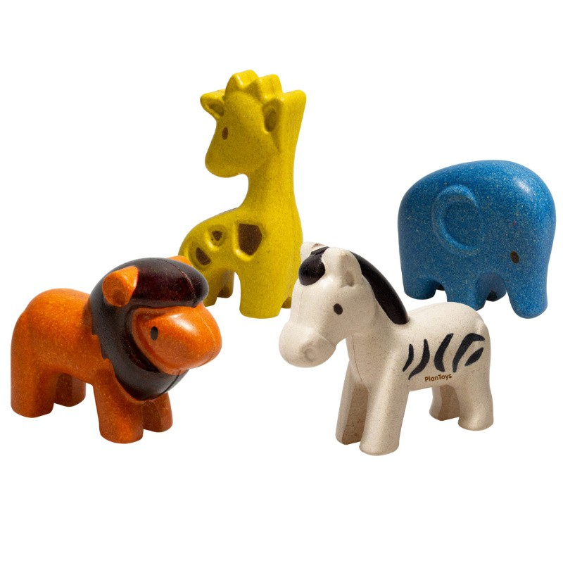 Wilde dieren set, Plan Toys