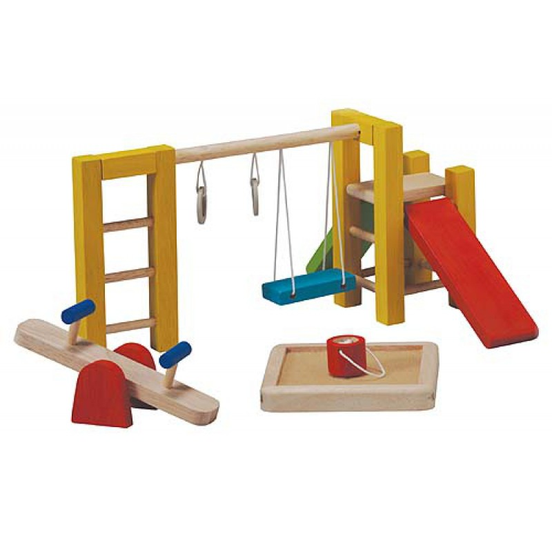 Speeltuin poppenhuis, Plan Toys