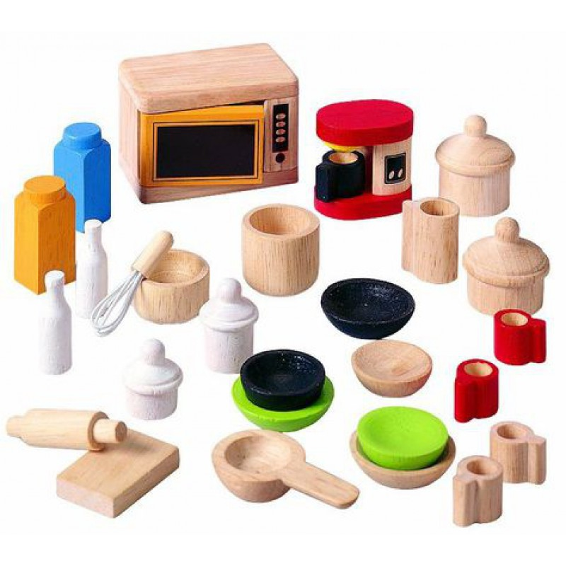 Accessoires keuken poppenhuis, Plan Toys