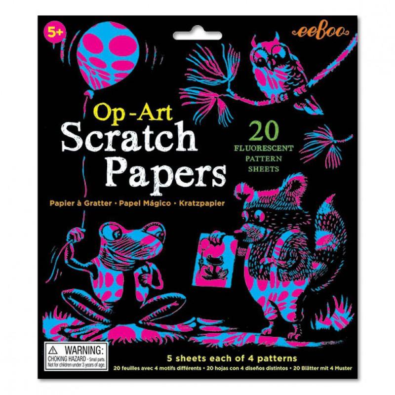 Scratch Papers fluo, Eeboo