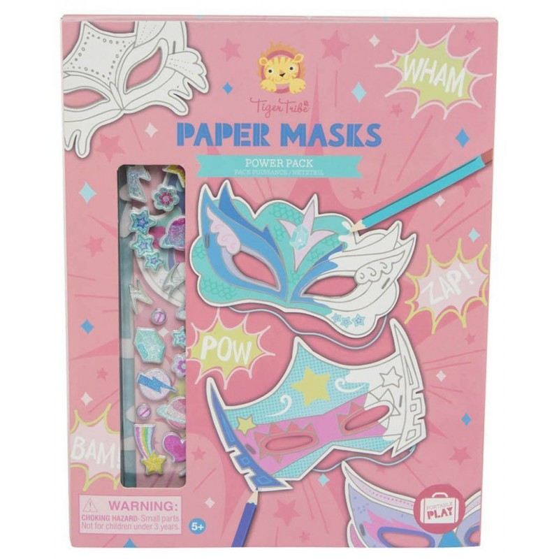 Papieren maskers Power Pack, Tiger Tribe