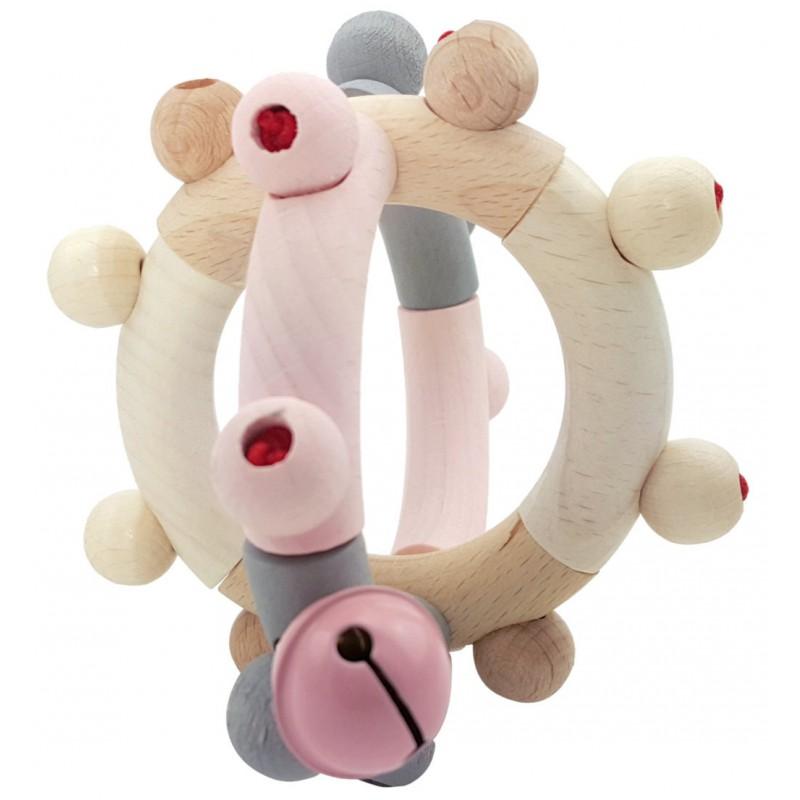 Flexibele rammelaar bol roze, Hess