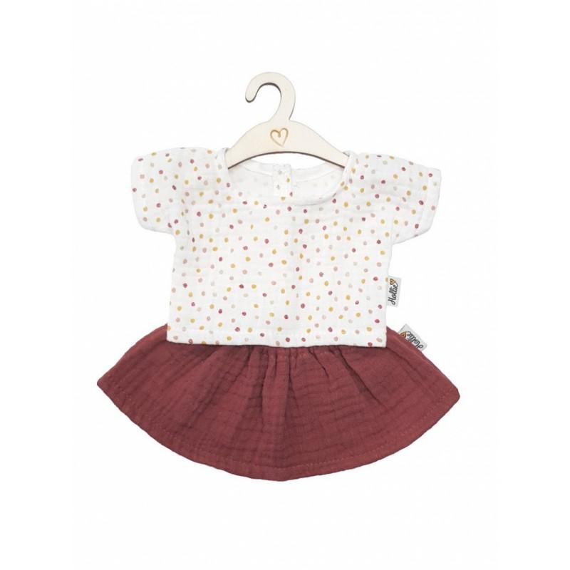 Rokje en shirt Blush Sweet Dots babypop 34 cm, Hollie