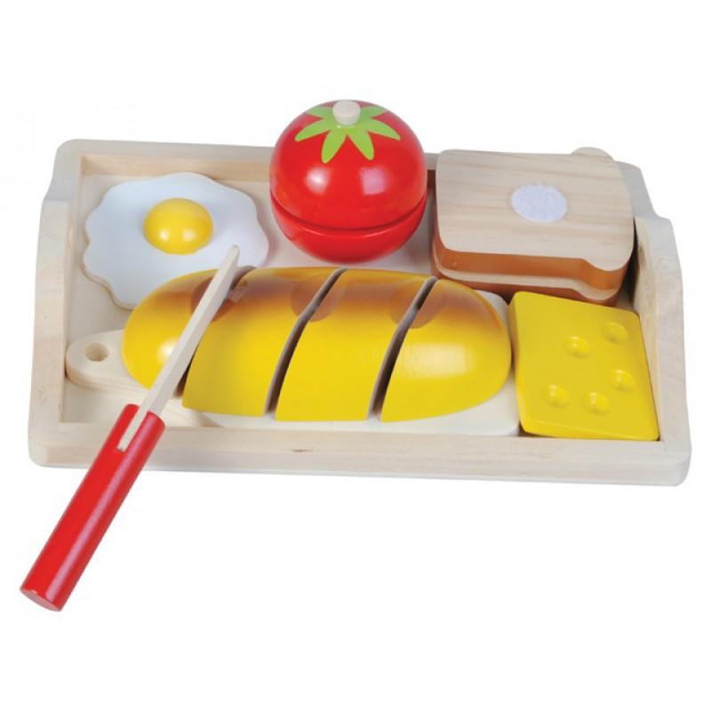 Houten speelgoed ontbijtset 8-delig