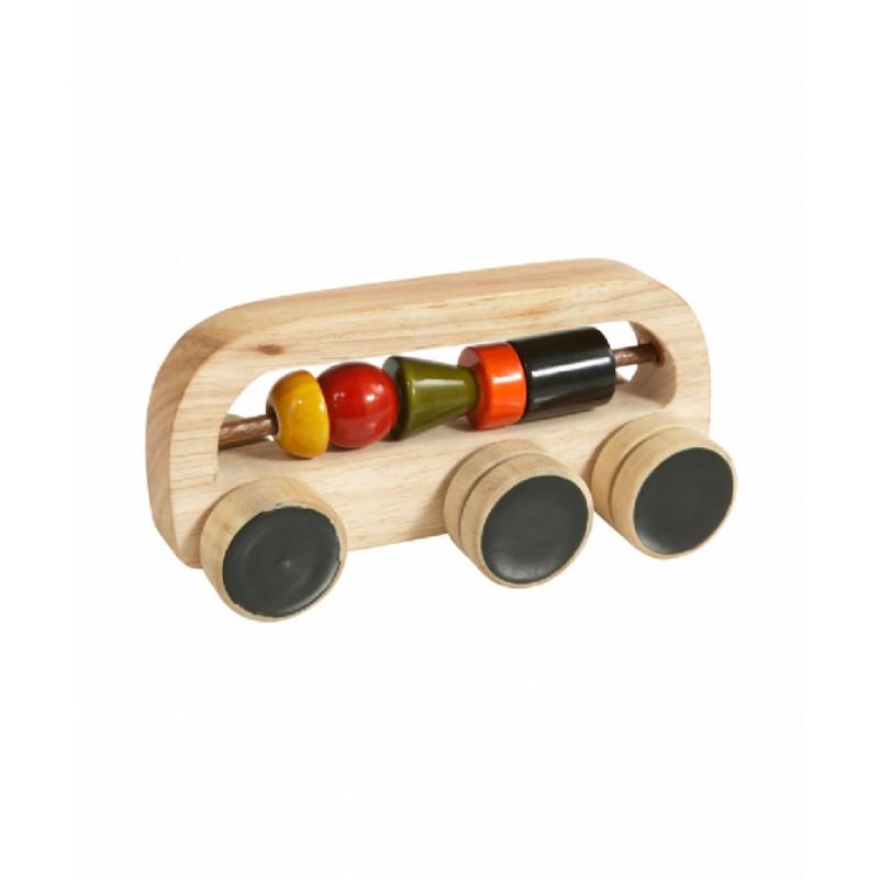 Eco houten ringenbus met vormenkralen