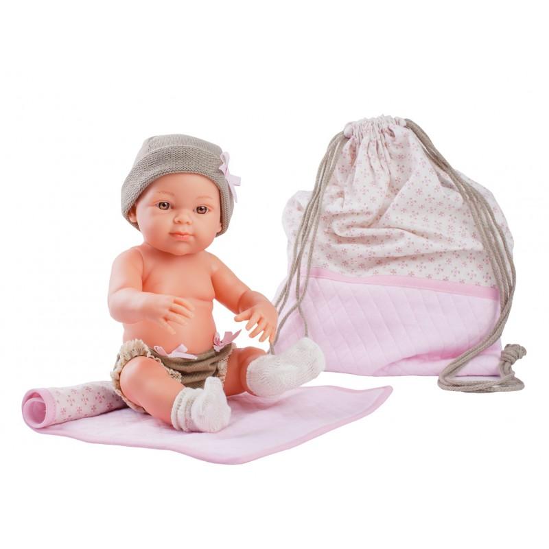 Babypop meisje met tas, Paola Reina Mini Pikolines
