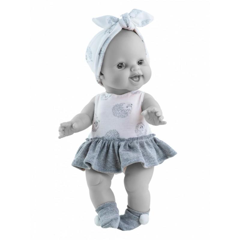 Kledingset Egel wit babypop 34 cm, Paola Reina
