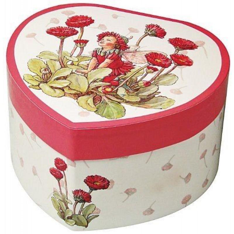 Muziekkistje rood bloemenelfje