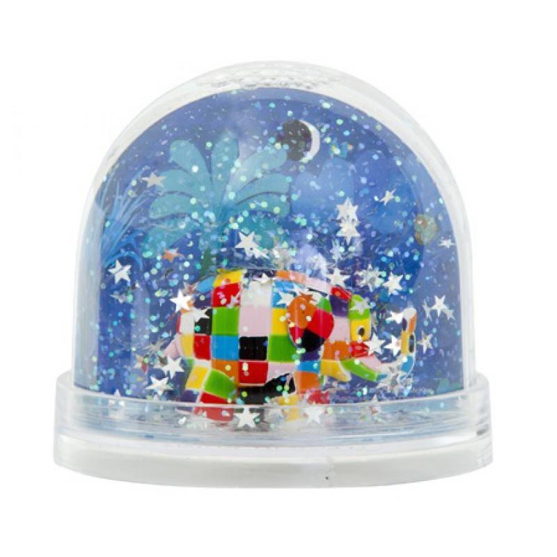 Glitter sneeuwbol Elmer de Olifant