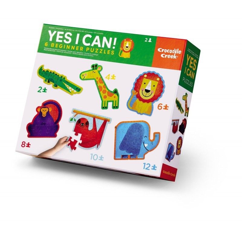 Yes I Can 6 puzzels Jungle, Crocodile Creek