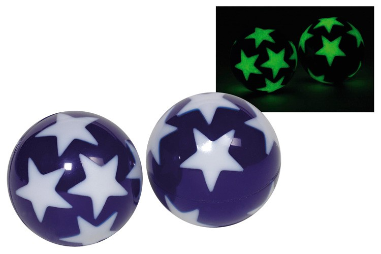 Stuiterbal Met Licht : Glow in the dark stuiterbal sterren vosjes