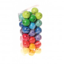 36 Gekleurde kralen 30 mm, Grimm's