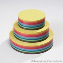 500 Ronde vouwblaadjes 10 cm, Mercurius