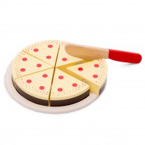 Houten snijset slagroomtaart