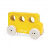 Houten bus geel, Janod Sweet Cocoon
