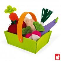 Mandje stoffen groente, Janod
