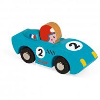 Story blauwe raceauto Speed, Janod