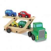 Oplegger met 4 auto's, Melissa & Doug