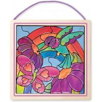 Glas in lood Rainbow garden, Melissa & Doug