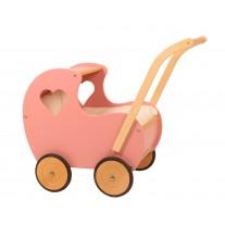 Poppenwagen Vintage roze, Van Dijk