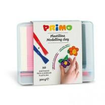 Zachtblijvende klei en mesjes in opbergbox, Primo