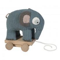 Gehaakte olifant op wieltjes, Sebra
