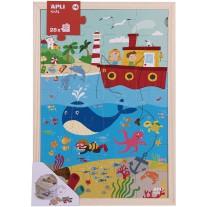 Houten puzzel Oceaan 28 st, Apli