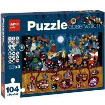 Zoek & vind puzzel Bos 104 st, Apli