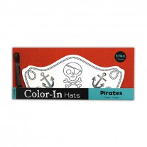 Color-In hoeden Piraten, Mudpuppy