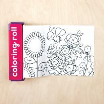 Mini Coloring Roll Bloementuin, Mudpuppy