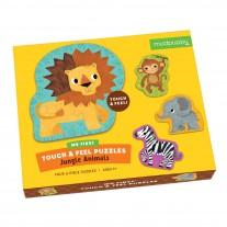 Touch & Feel puzzels Jungledieren, Mudpuppy