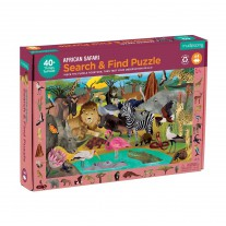 Zoek & vind puzzel Afrikaanse safari 64 st, Mudpuppy
