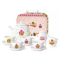 Porseleinen serviesje Cupcakes in koffer, Simply for Kids