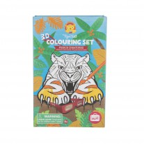 3D kleurset woeste beesten, Tiger Tribe